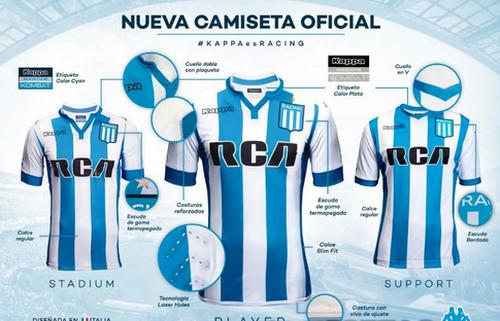 ... camisetas Racing Club baratas 2017 2018 Primera.  Nueva camiseta del Racing Club 2017 2018 baratas Casa (1) 67bc6bacccb95