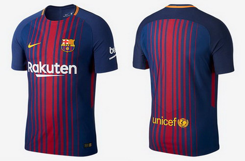 ... la camisetas Barcelona baratas 2017 2018 casa introduce una nueva  imagen del club. Replicas camisetas futbol Barcelona 2017 2018 casa (1) b627f979e057d